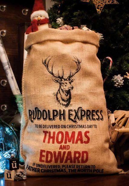 Saco Tela Navidad Rudolph
