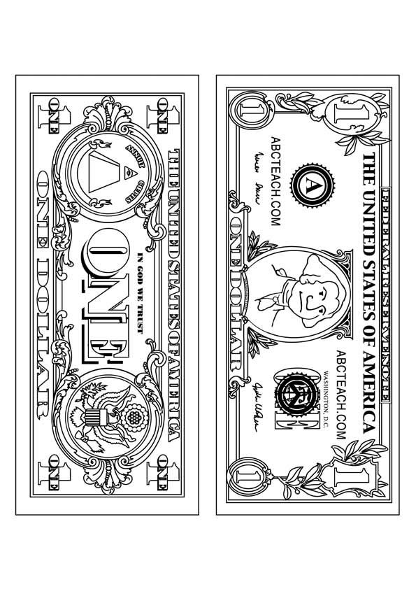 Top 10 Money Coloring Pages For Your Toddler Coloring Pages