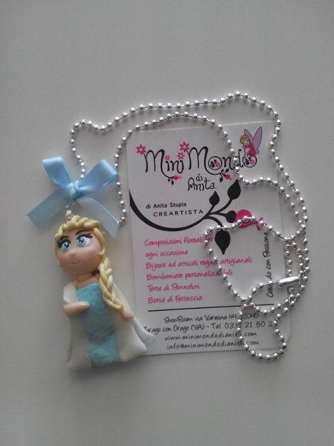 Collana bambolina Elsa di Frozen! www.minimondodianita.com