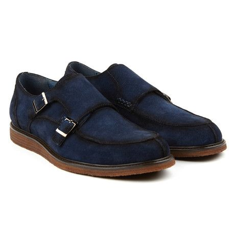Roebling Double Monk Strap // Navy (US: 7)