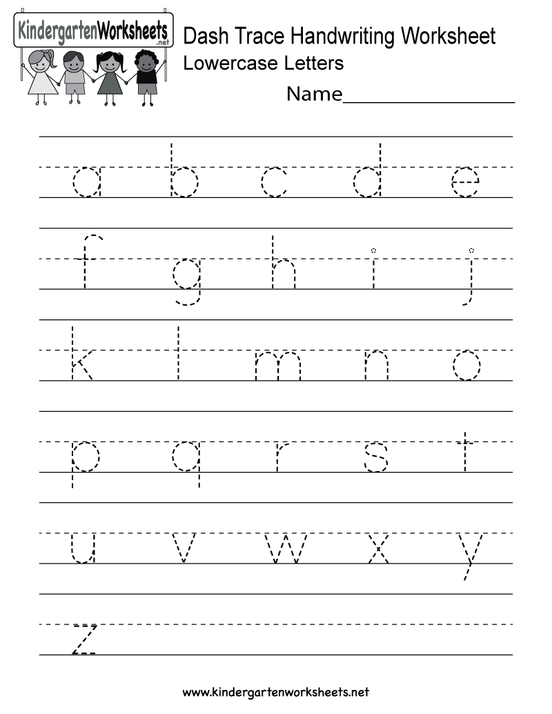 kindergarten dash trace handwriting worksheet printable handwriting worksheets handwriting. Black Bedroom Furniture Sets. Home Design Ideas