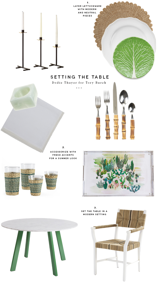 Dodie Thayer for Tory Burch Is What you need for Entertaining · Savvy Home