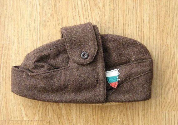 454da80d3b0 Vintage Military Bulgarian Army Cap  Communist Soldier Hat  Communism Era  Military Winter Hat  Ushanka