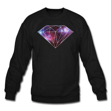 Men's Galaxy diamond supply sweatshirt 53.99