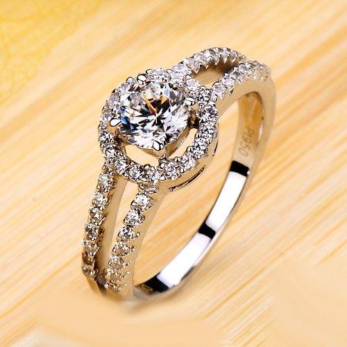 0.5 Carat Diamond Promise Ring for Girlfriend Custom