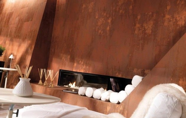 apavisa archconcept xtreme metallic copper lappato wave tiles tiles dont need to be square or rectangular a curve a wave will give motion to - Copper In Interior Design