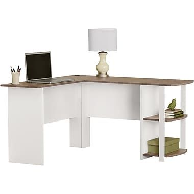 Charmant L Shaped Desk With Side Storage, Multiple Finishes Image 3 Of 7