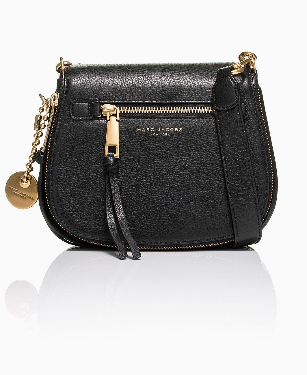 3c7b99033457 Marc Jacobs - Recruit Nomad Black Small Saddle Bag - Black - Designer  Fashion for Men   Women