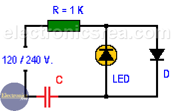 Light Emitting Diode Connected To 120 240 Vac Electronics Area In 2020 Light Emitting Diode Diode Basic Electronic Circuits