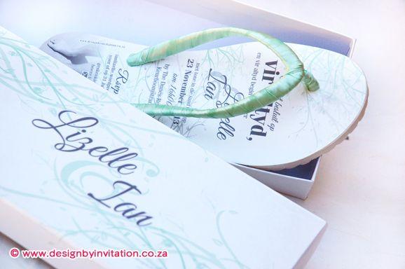 Flip Flop Wedding Invitation wwwdesignbyinvitationcoza