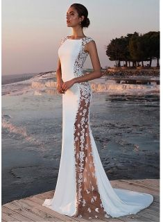 Weiße Abiballkleider Lang Günstig Spitze Abendkleider Abendmoden Online Modellnummer: XY081-BC0599 #weißekleiderkurz