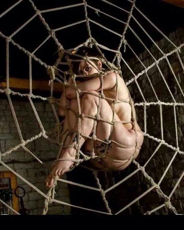 Spider web bondage and mature strip 3 10