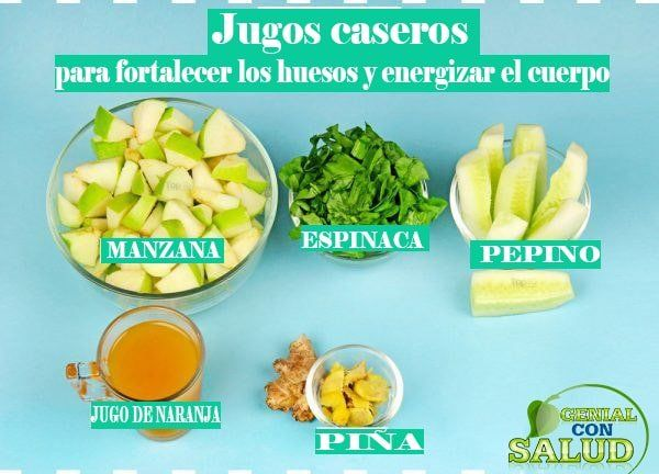 Jugo Para Fortalecer Los Huesos En Todo El Cuerpo Cancer Fighting Smoothies Recipes Healthy Bones Health Food