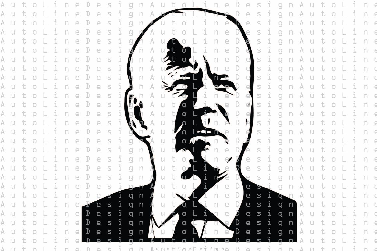 Joe Biden Portrait Svg Pdf Dxf Png Eps Illustration Vector Stencil Graphic Art Instant Download In 2021 Graphic Art Stencils Illustration