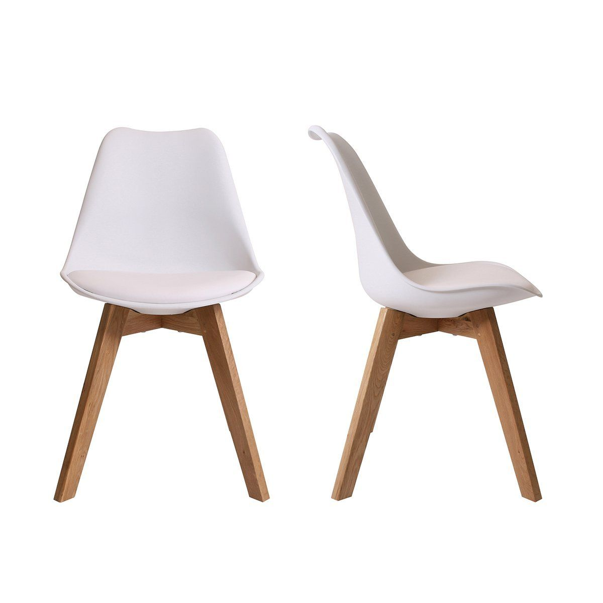 Moderner Design Esszimmerstuhl Consillium Valido (2er Set) / Holz   Maße  83x48x39 Cm (