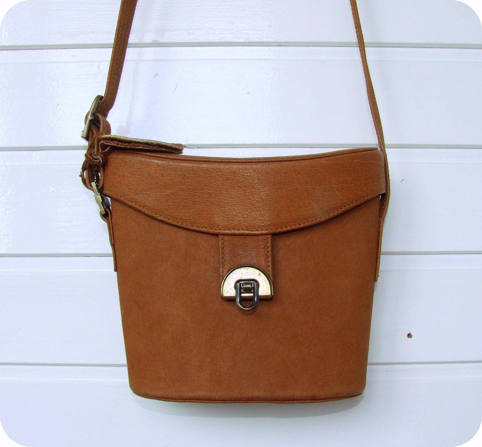 Vintage Picard Leder Tasche Schultertasche Handtasche Leather Saddle Bag Box In Kleidung Accessoires Damentaschen