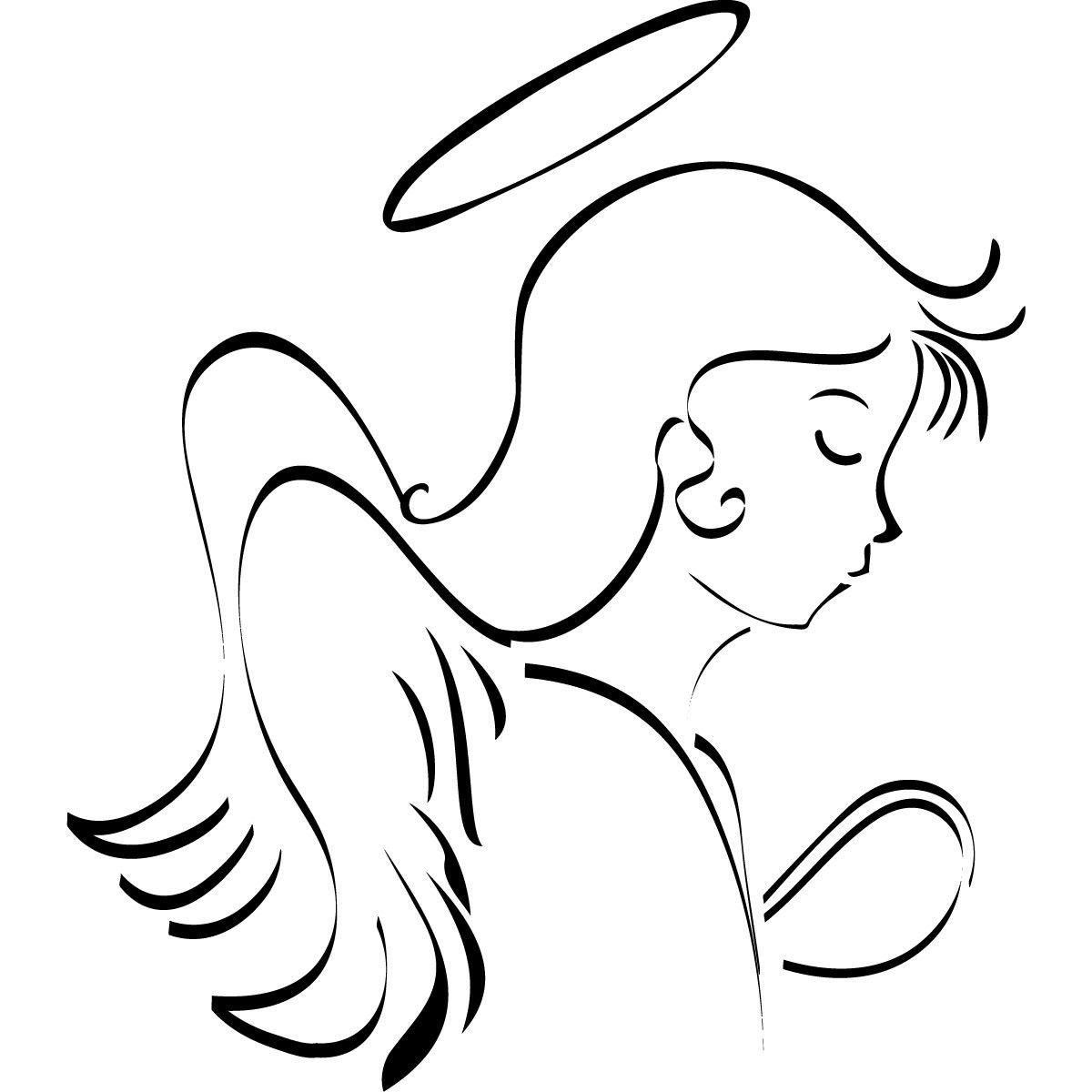 Angel Line Drawings