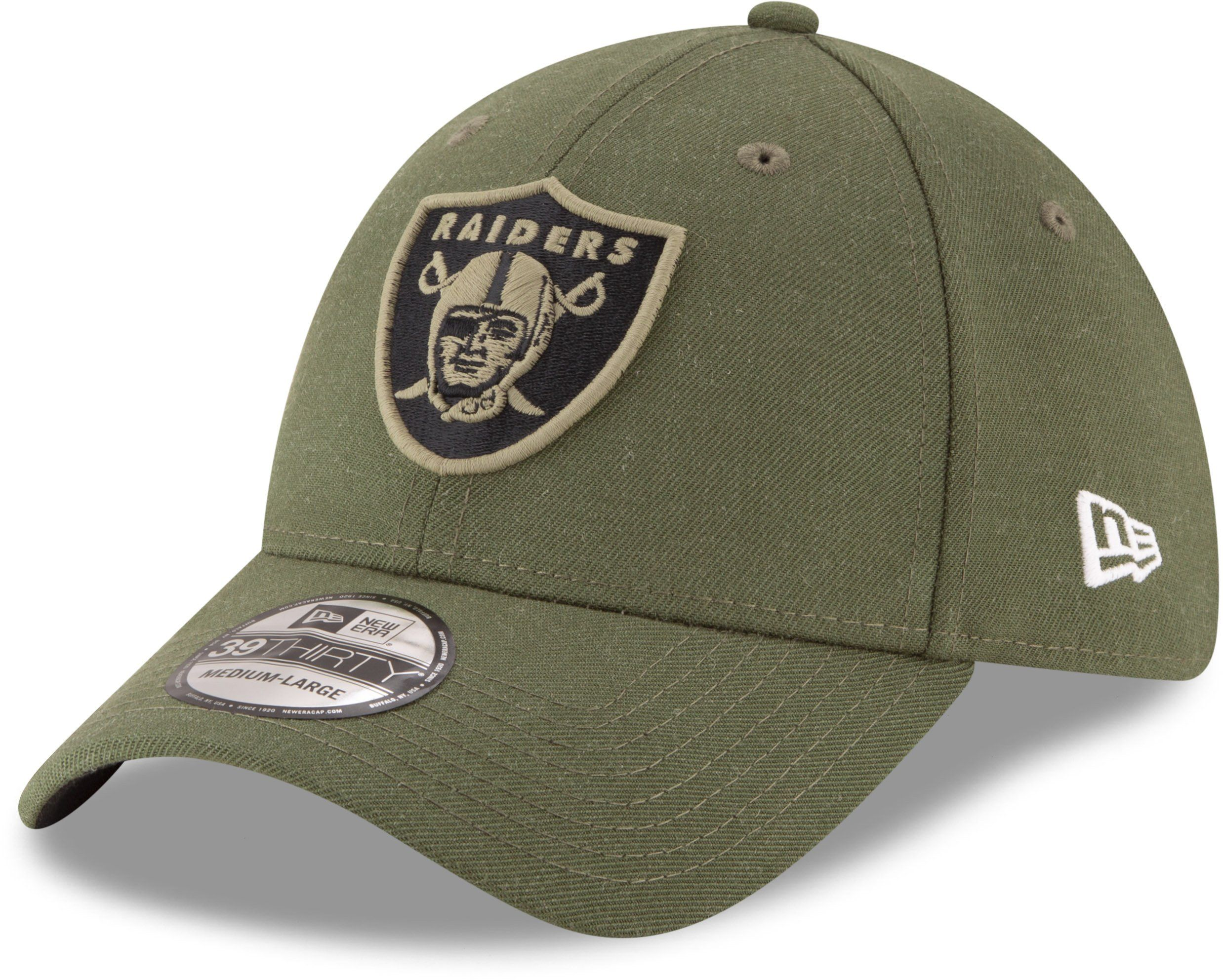 Oakland Raiders New Era 3930 NFL On Field 2018 STS Stretch Fit Cap –  lovemycap a818262ae