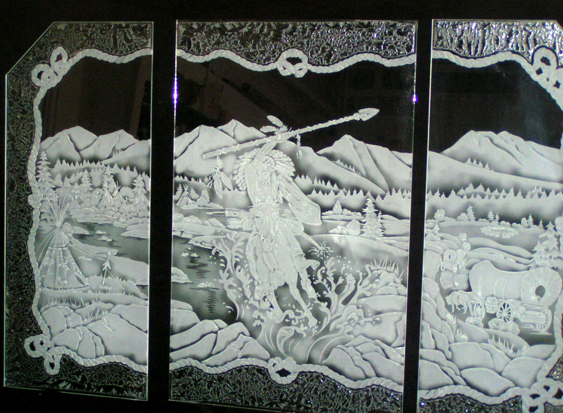 art glass cabinet designs etched glass vineyard grapes cascade