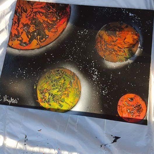 provocative-planet-pics-please.tumblr.com Spraypaint son! #spraypaint #planets #kindacool #firsttry #noedit #painting #art by chey_anna13 https://www.instagram.com/p/_cHIVawXXe/