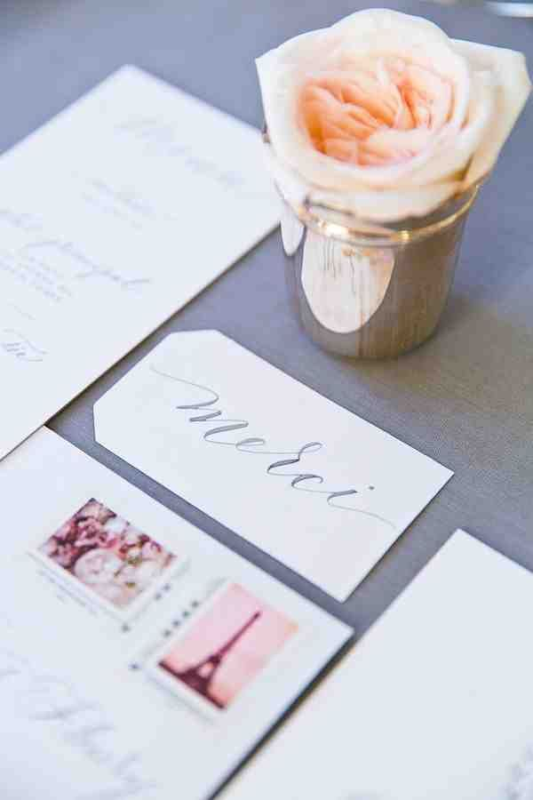 The perfect French touch for your wedding invitations! Photographer: Le Secret d'Audrey