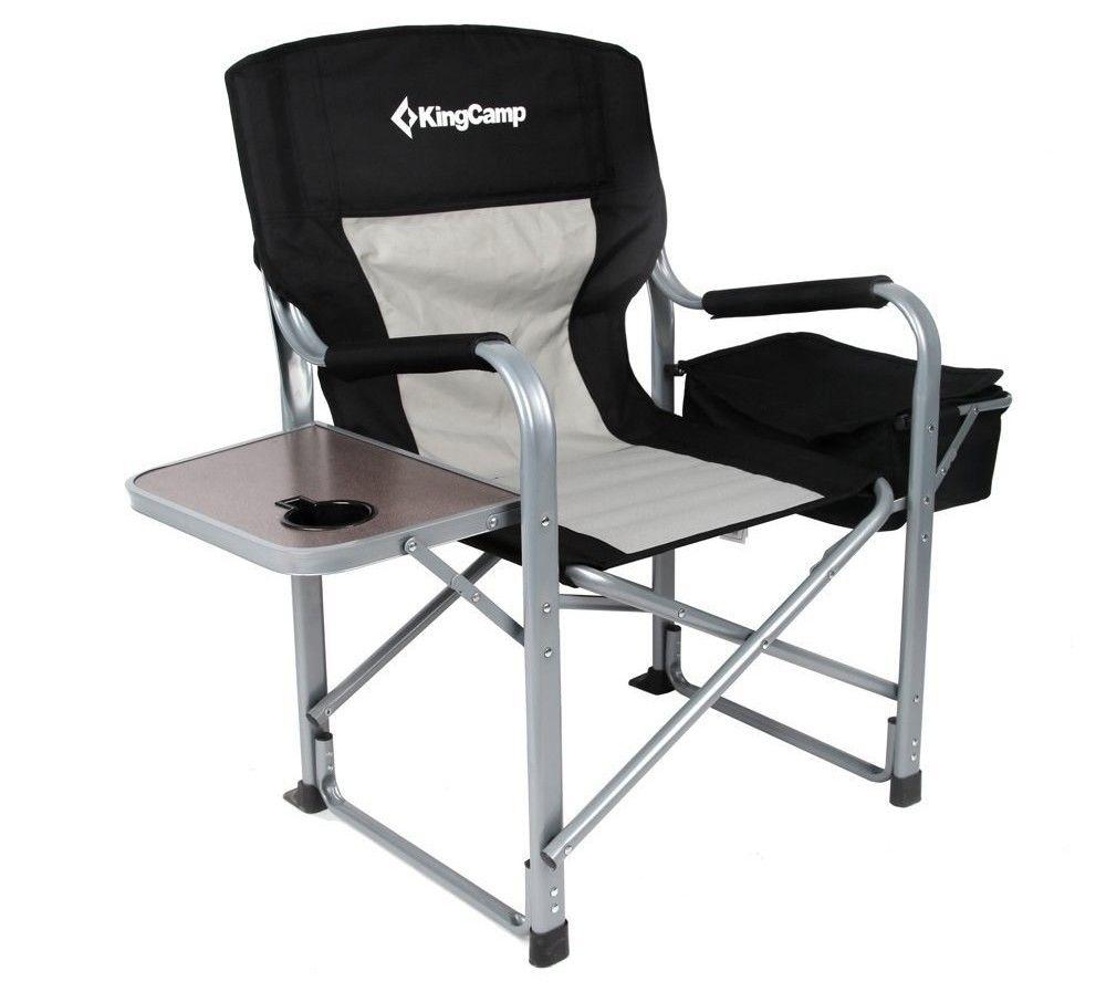 Outdoor Folding Chair Fishing Chair Director Chair Aluminum Chair Casual Beach Chair Portable-Coffee