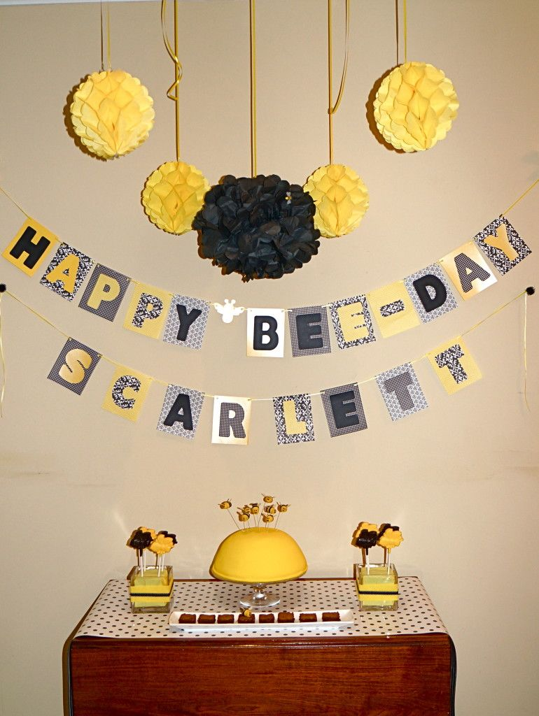 These Bumble Bee Birthday Party Supplies Are Just Too Cute And