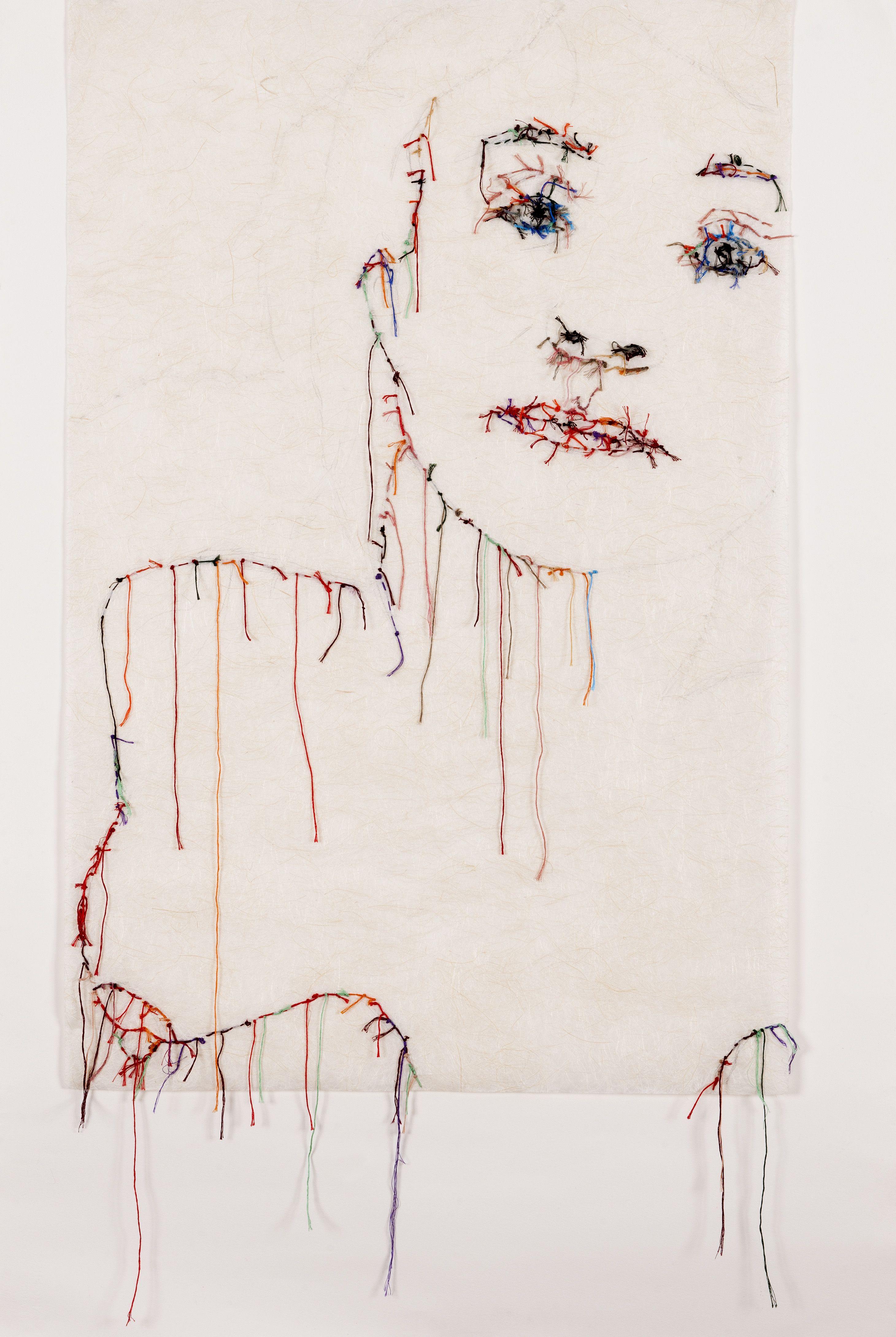 #autoportrait #guacolda #broderie Stitch Drawing, Thread Painting, Textile  Fiber Art,