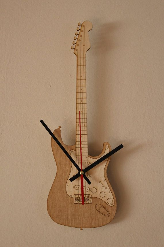 This Vertical Hanging Guitar Clock Is Approximately 15 Tall By 5