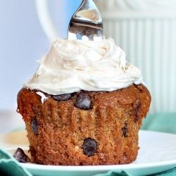 A delicious dessert like Pumpkin Chocolate Chip Muffin! Guest post by Chocolate Covered Katie!