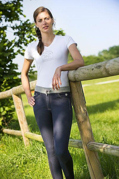 """Jeans equitazione donna Equi-thème modello """"Look"""" per monta inglese indispensabile e di tendenza."""