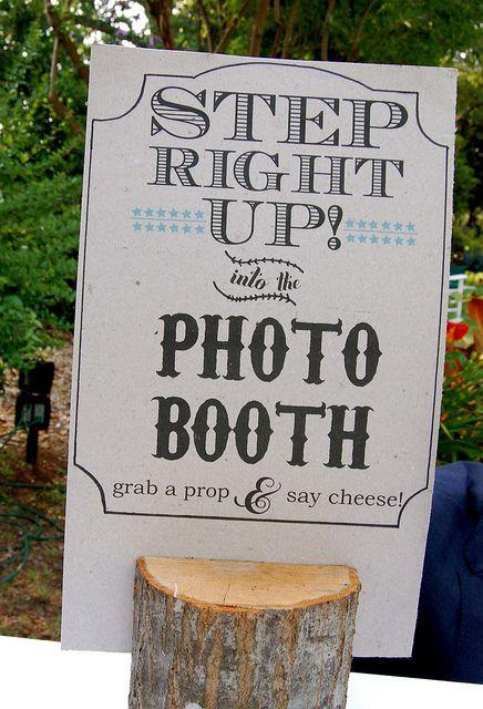 Wedding photo booth, what a fun idea!