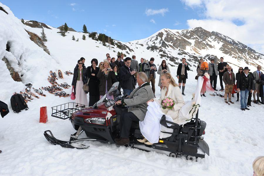 Hochzeit im Winter in Salzburg