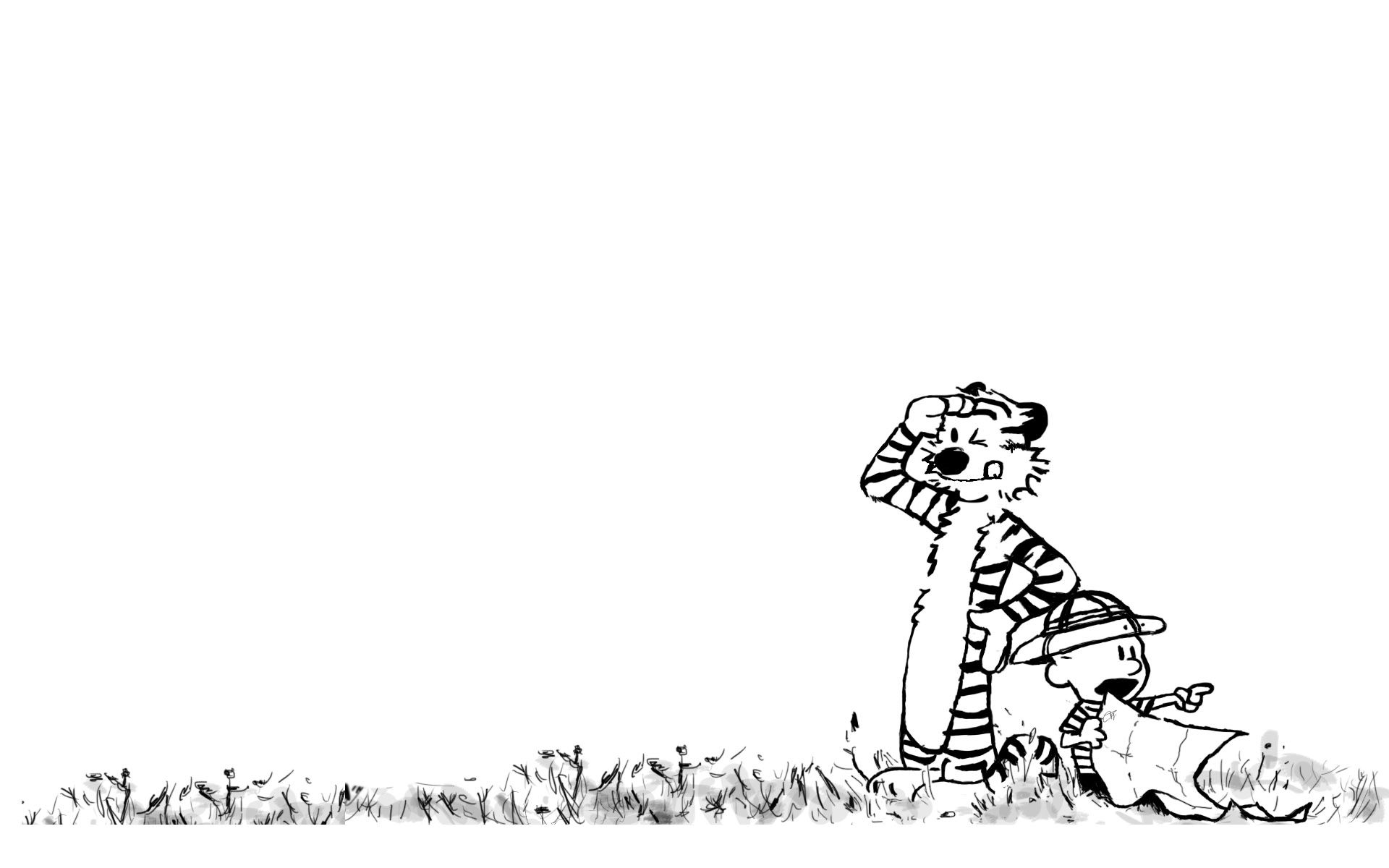 Calvin and Hobbes Wallpapers Black and White