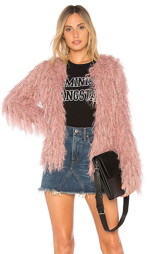 Shop for JOA Shaggy Cardigan in Pink at REVOLVE Free 2-3 day - interieur trends im sommer inspiration bilder