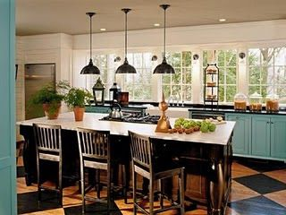 awesome turquoise kitchen cabinets dining | kitchen without upper cabinets | Here is a more country ...
