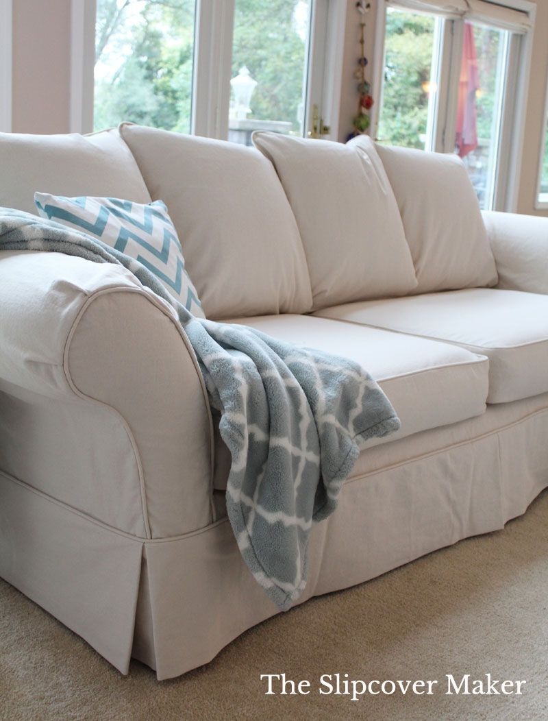 Budget Friendly Denim Perfect For Slipcovers Slipcovers Slipcovered Sofa Old Sofa