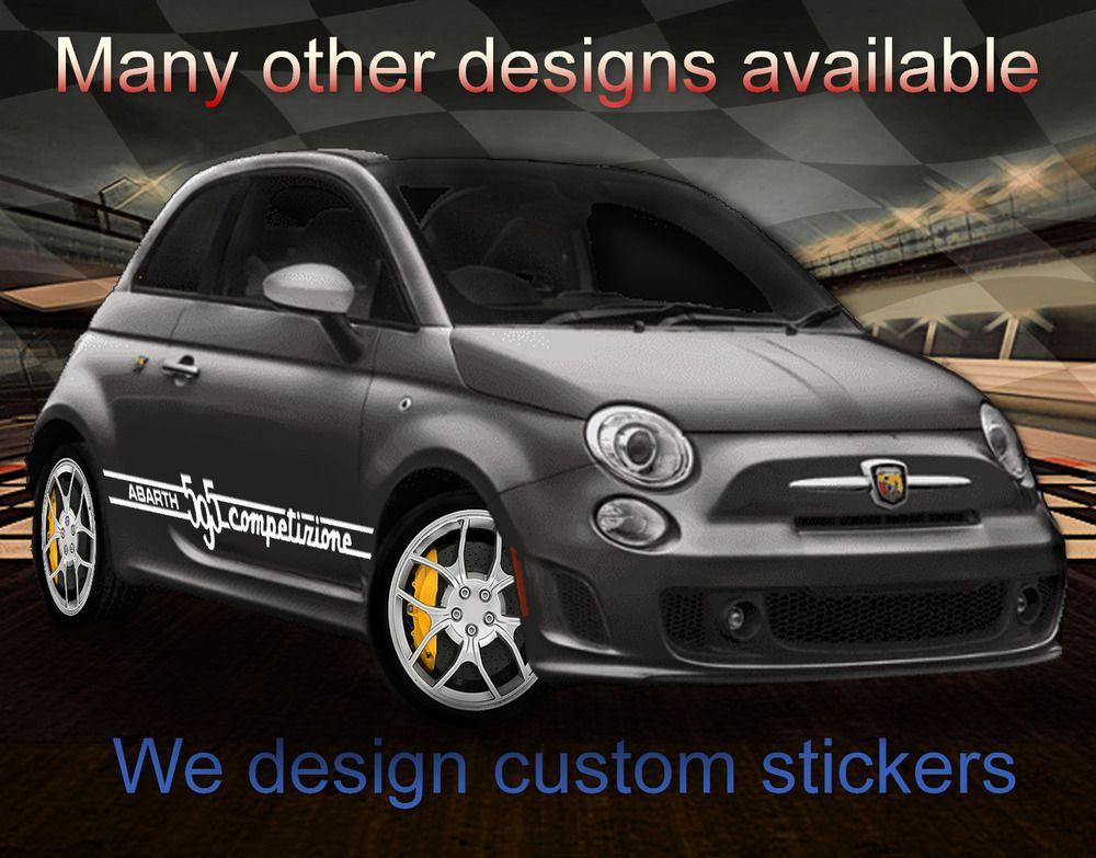 Sponsored Ebay Racing Stripes Sticker Kit For Fiat 500 Abarth 595