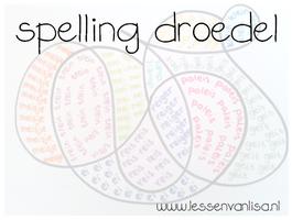 Bij spelling merk ik altijd dat er grote verschillen zijn in werktempo. Op pinterest kwam ik een super leuk idee tegen, waarmee de kinderen die eerder klaar zijn, de woorden van de week nog eens extra kunnen oefenen.
