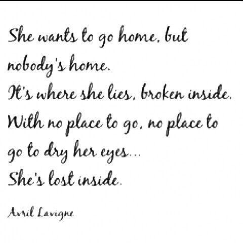 nobody s home avril home lyrics love songs lyrics music quotes
