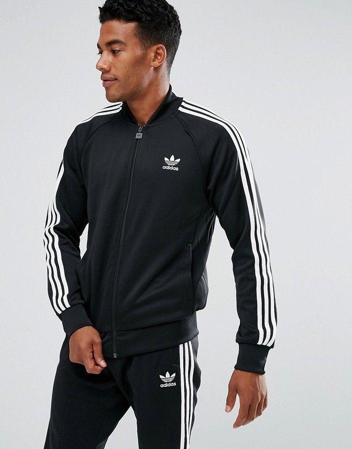 876d39fc4c2e adidas Originals Superstar Track Jacket In Black BK5921