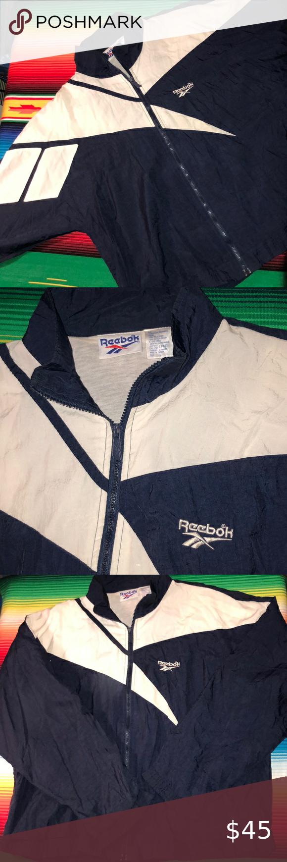 Vintage Reebok Zip Up Jacket Quarter Zip Jacket Jackets Half Zip Windbreaker [ 1740 x 580 Pixel ]