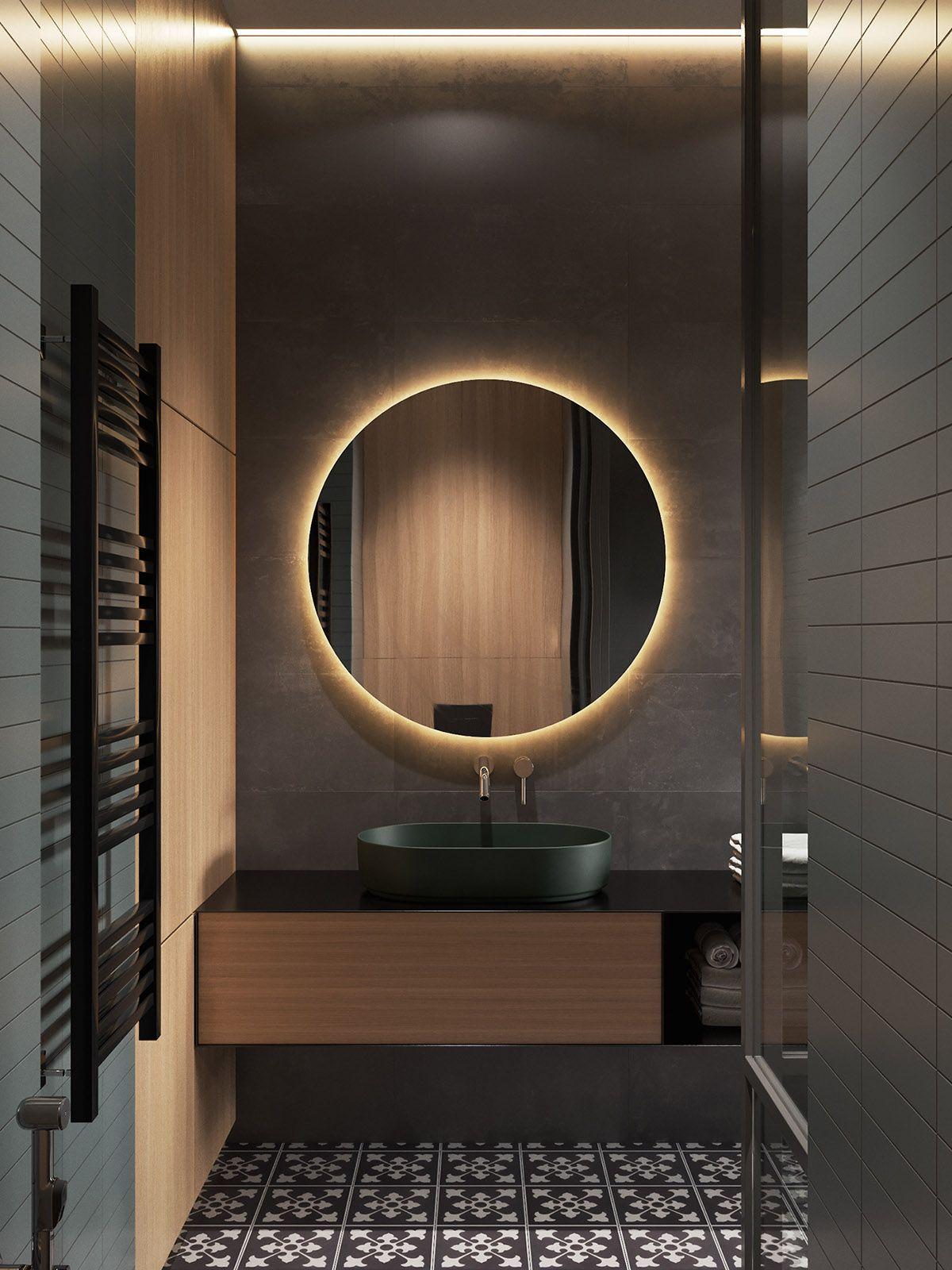 Interior Design Using Moody Colours And Natural Materials #lightingdesign