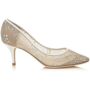 Jimmy Choo Match White Lace Almond Toe Pumps
