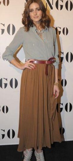 faldas largas con cinturon - Buscar con Google  503b4d54cc03