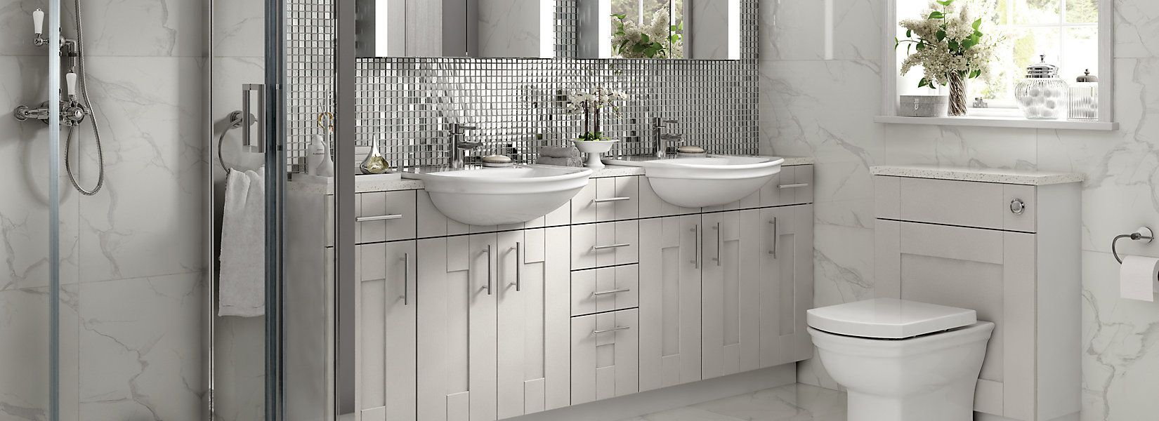 Vermont Fitted Bathroom Furniture Wickes Co Uk In 2020 Fitted Bathroom Fitted Bathroom Furniture Bathroom Furniture