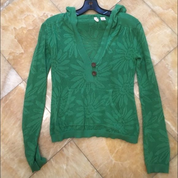 Anthropologie sweater! Hooded sweater from anthro! In perfect condition. Just in time for spring! Anthropologie Sweaters