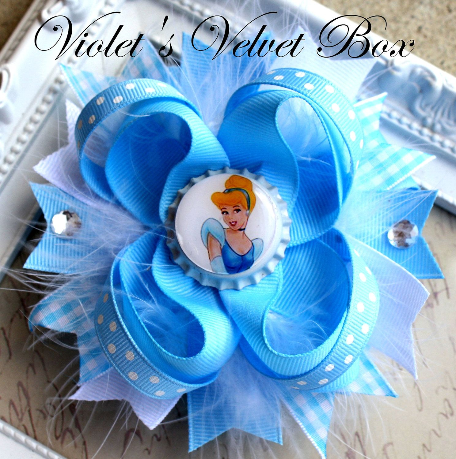 Cinderella hair bow inspired by cinderella boutique hair bow by