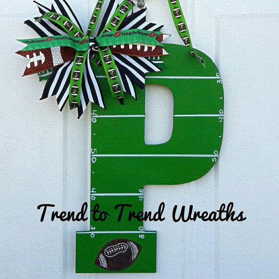 referee football letter football decor fifty yard line letter