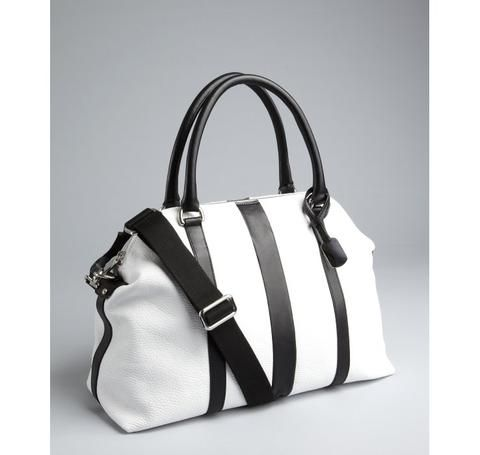 Furla White And Black Leather